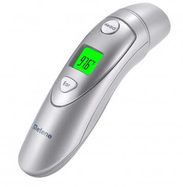 metene forehead and ear thermometer