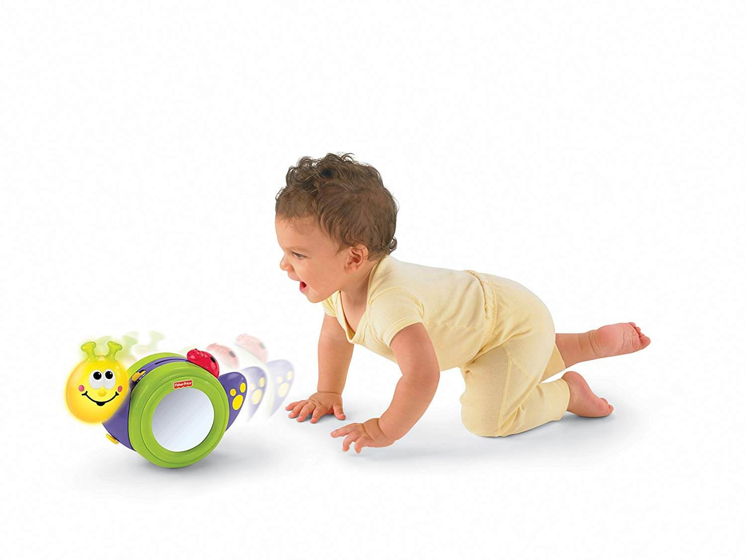 baby learning to crawl