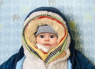 bundle up the baby